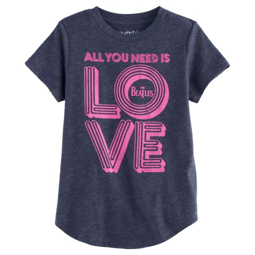 """Girls 4-10 Jumping Beans® The Beatles """"All You Need Is Love"""" Tee"""