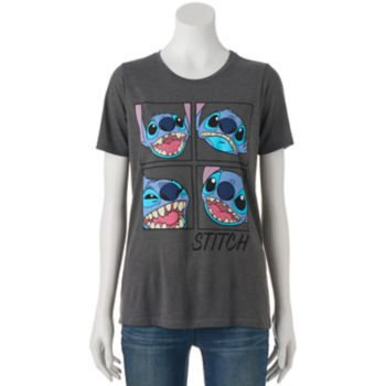 Disney's Lilo & Stitch Juniors' Face Expressions Short Sleeve Graphic Tee