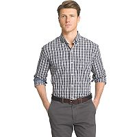 Big & Tall Men's IZOD Advantage Slim-Fit Checked Stretch Button-Down Shirt