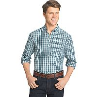 Big & Tall Men's IZOD Advantage Slim-Fit Checked Stretch Button-Down Shirt