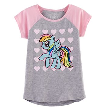 Girls 4-10 Jumping Beans® My Little Pony Rainbow Dash Raglan Tee