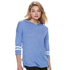 Juniors' SO® Perfectly Soft Lace-Up Side Hoodie