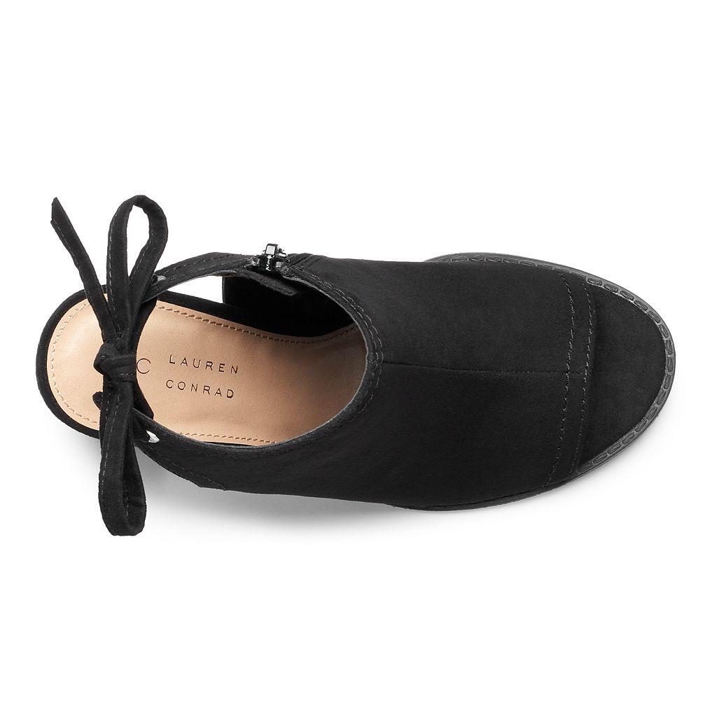 LC Lauren Conrad Sunflower Women's Peep Toe Ankle Boots