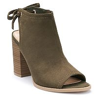 LC Lauren Conrad Sunflower Women's Peep Toe Ankle Boots