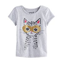 Toddler Girl Jumping Beans® Glittery Mask Kitty Cat Graphic Tee