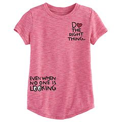 Girls 4-10 Jumping Beans® 'Do The Right Thing' Tee