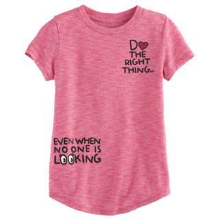 """Girls 4-10 Jumping Beans® """"Do The Right Thing"""" Tee"""