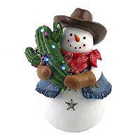 St. Nicholas Square® Light-Up Cowboy Snowman Table Decor