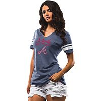 Women's Majestic Atlanta Braves Spirit Awareness Tee