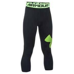 Boys 8-20 Under Armour Logo 3/4-Length Base Layer Leggings