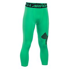 Boys 8-20 Under Armour Logo 3/4-Length Base Layer Leggings