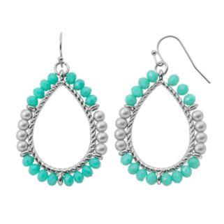 GS by gemma simone Beaded Nickel Free Teardrop Earrings