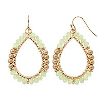 GS by gemma simone Beaded Nickel Free Teardrop Earrings