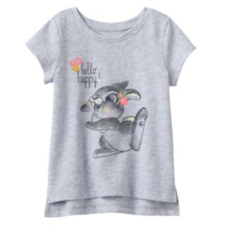 Disney's Bambi Thumper Baby Girl Glittery Graphic Tee by Jumping Beans®