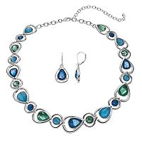 Napier Teardrop Link Necklace & Earring Set