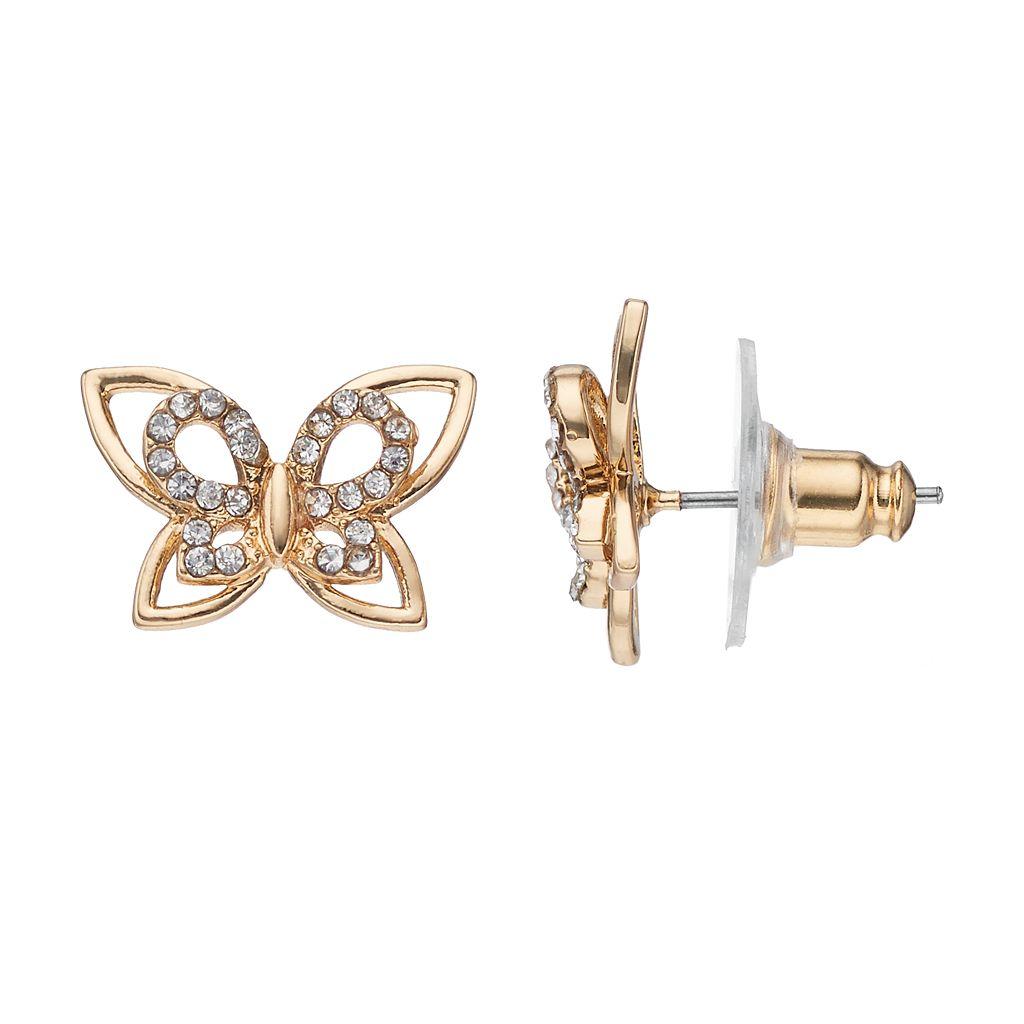 LC Lauren Conrad Nickel Free Open Butterfly Stud Earrings