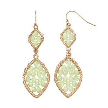 GS by gemma simone Woven Marquise Nickel Free Double Drop Earrings