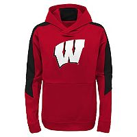 Boys 8-20 Wisconsin Badgers Hyperlink Pullover Hoodie