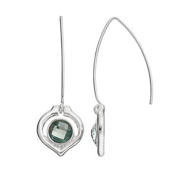 Napier Green Stone Threader Earrings