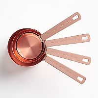 Food Network™ 4 pc Copper-Plated Measuring Cup Set