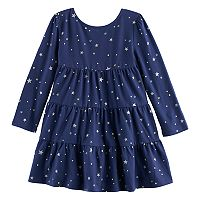Toddler Girl Jumping Beans® Print Tiered Dress