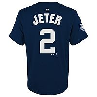 Boys 8-20 Majestic New York Yankees Derek Jeter Retirement Name and Number Tee