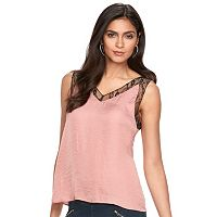 Women's Jennifer Lopez Satin Lace-Trim Tank