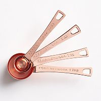 Food Network™ 4 pc Copper-Plated Measuring Spoon Set