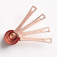 Food Network™ 4-pc. Copper-Plated Measuring Spoon Set