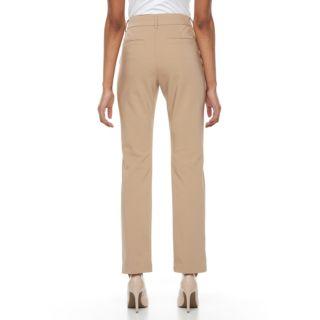 Petite Gloria Vanderbilt Haven Microtech Straight-Leg Pants