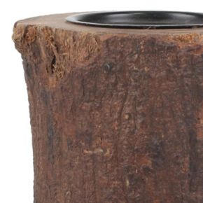 Stonebriar Collection Wood Pillar Candle Holder