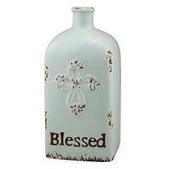 Stonebriar Collection 'Blessed' Ceramic Vase Table Decor