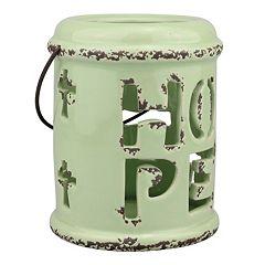 Stonebriar Collection 'Hope' Ceramic Lantern Table Decor