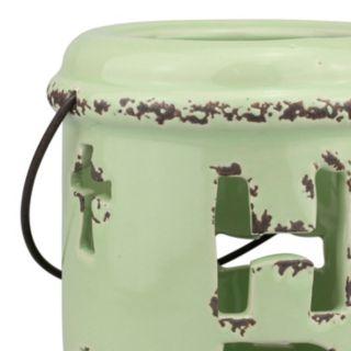 "Stonebriar Collection ""Hope"" Ceramic Lantern Table Decor"
