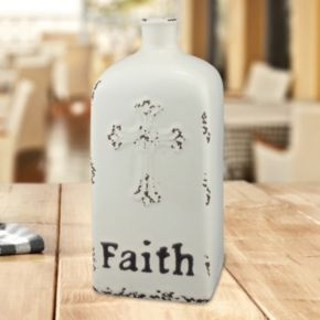 "Stonebriar Collection ""Faith"" Ceramic Vase Table Decor"