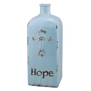 "Stonebriar Collection ""Hope"" Ceramic Vase Table Decor"