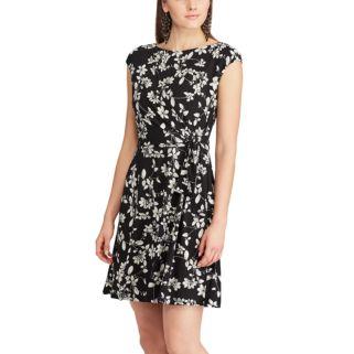Women's Chaps Floral Faux-Wrap Dress