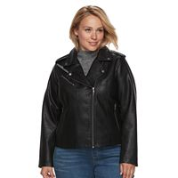 Plus Size Levi's Faux-Leather Jacket