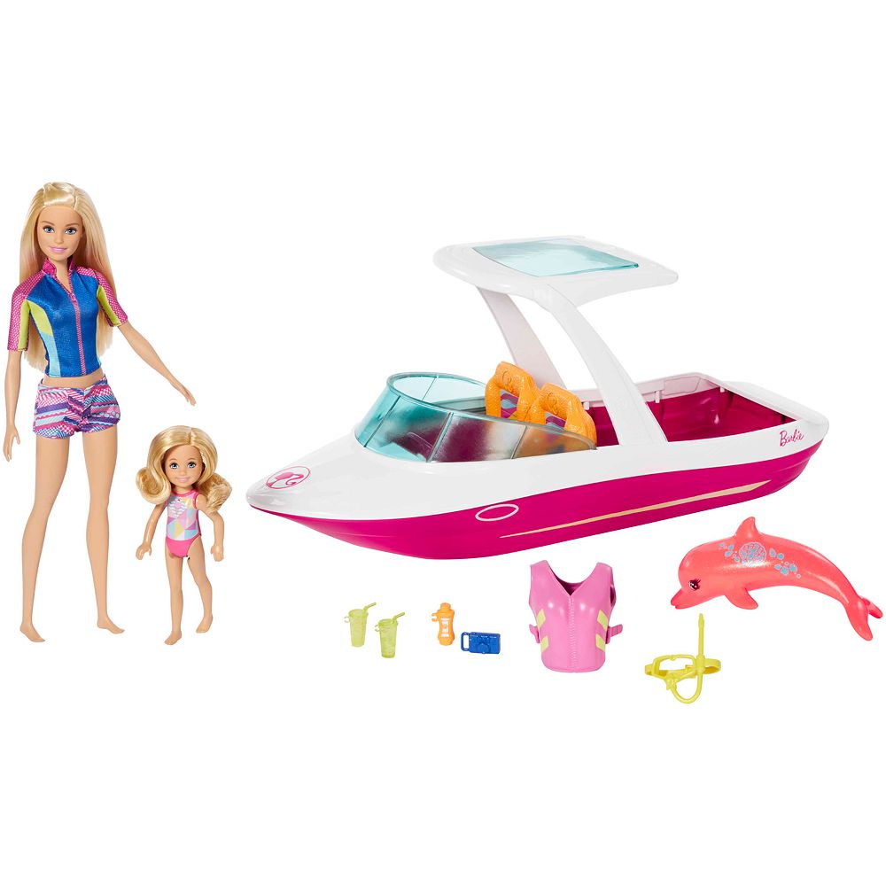Barbie Dolphin Magic Ocean View Boat Set