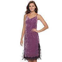 Women's Apt. 9® Velvet Lace Slip Dress