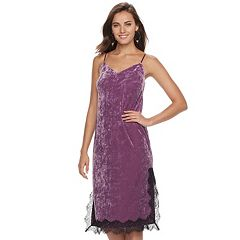Women's Apt. 9® Velvet Lace Slip Dress