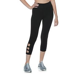 Juniors' SO® Cutout Yoga Capri Leggings
