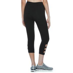 Juniors' SO® Cutout Yoga Capri Leggings
