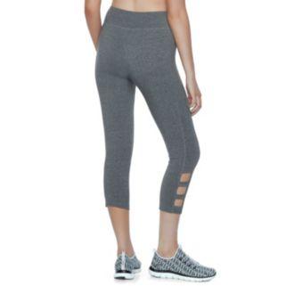 Juniors' SO® Cutout Capri Yoga Leggings