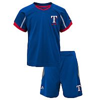 Toddler Majestic Texas Rangers Legacy Tee & Shorts Set