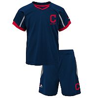 Toddler Majestic Cleveland Indians Legacy Tee & Shorts Set