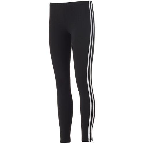 Juniors' SO® Side Stripe Black Leggings