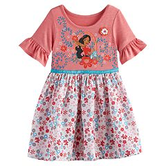 Disney's Elena of Avalor Toddler Girl Graphic Floral Dress