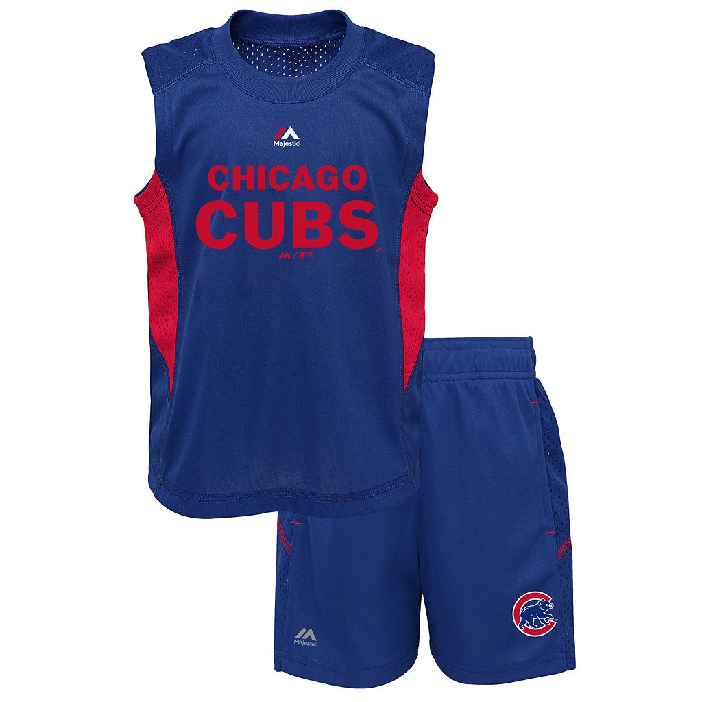 Toddler Majestic Chicago Cubs Tank & Shorts Set