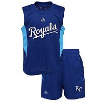 Toddler Majestic Kansas City Royals Tank & Shorts Set